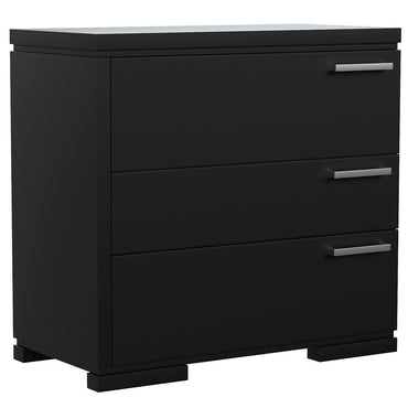 Desk - 3 Drawers - Joe - Black