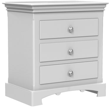 Bedside Table - 3 Drawers - Royal Collection - Adult - Pale Gray
