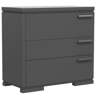 Desk - 3 Drawers - Joe - Dark Gray