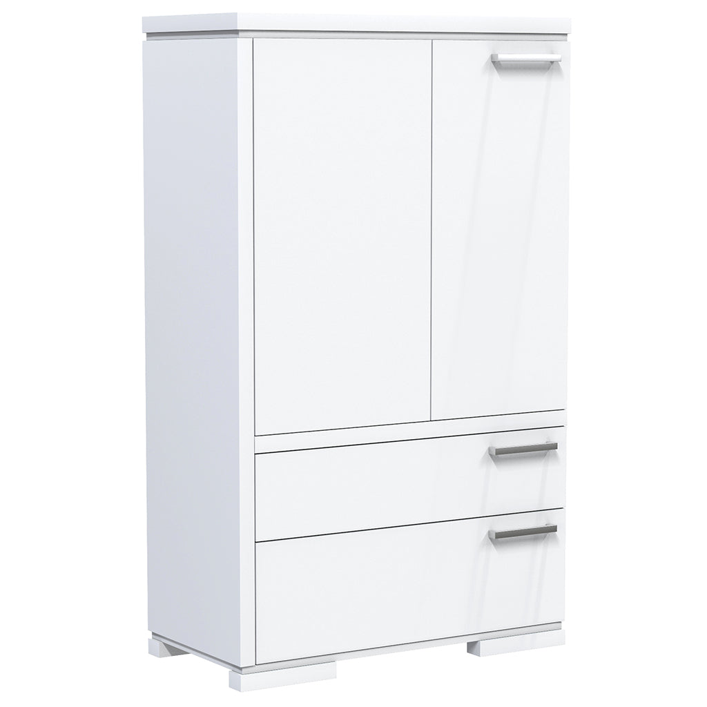 Cabinet - 2 Drawers and 2 Doors - Joe - White
