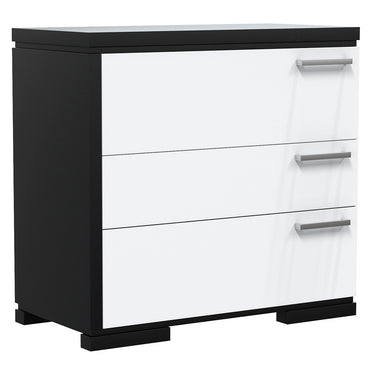 Desk - 3 Drawers - Joe - Black and White