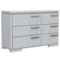 Double Desk - 6 Drawers - Joe - Pale Gray