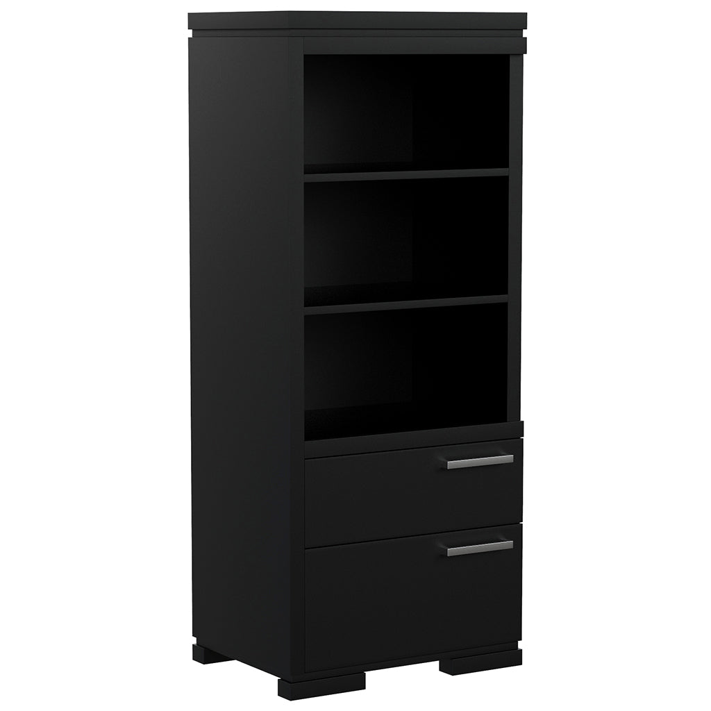 Wardrobe - 2 Drawers and 3 Floors - Joe - Black