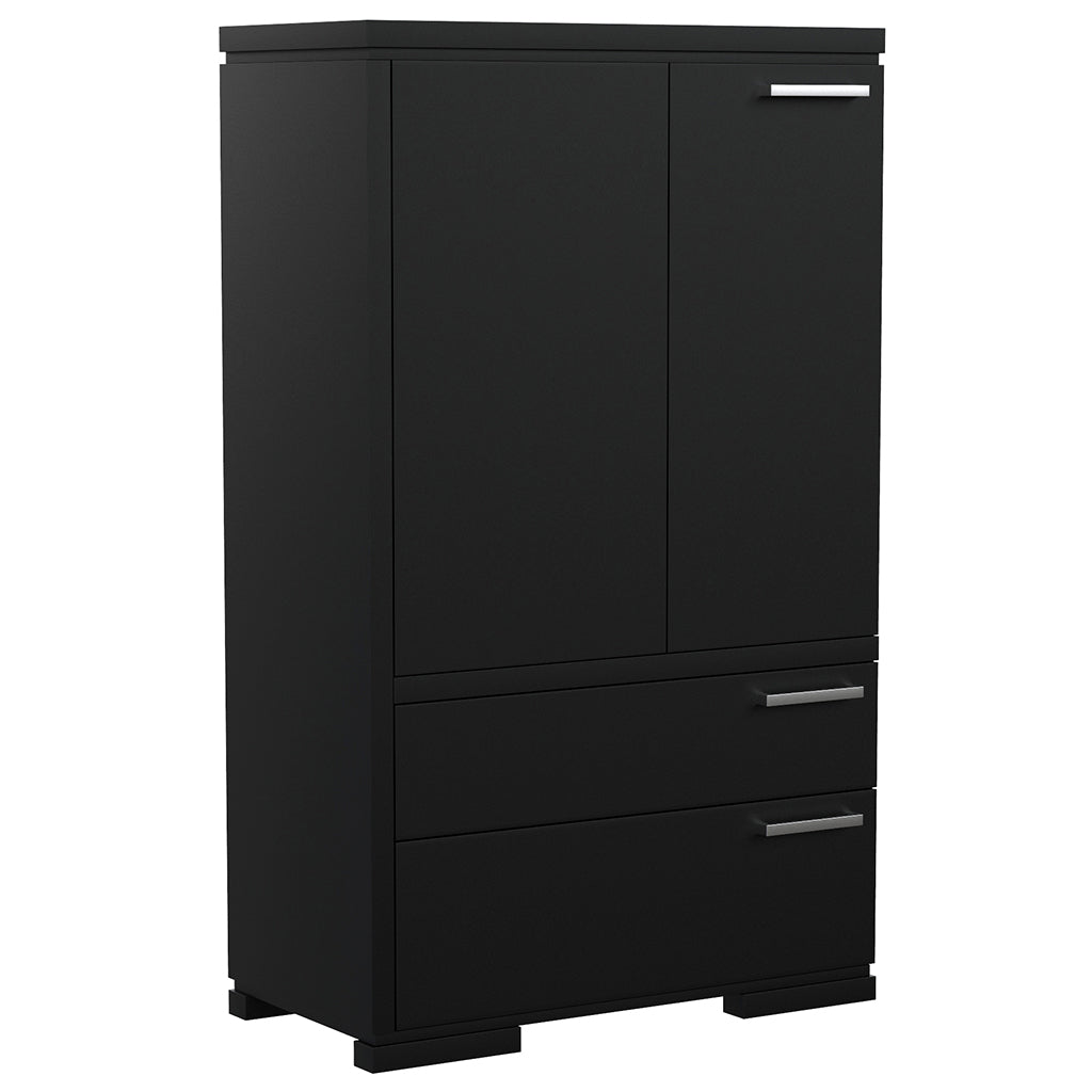 Cabinet - 2 Drawers and 2 Doors - Joe - Black