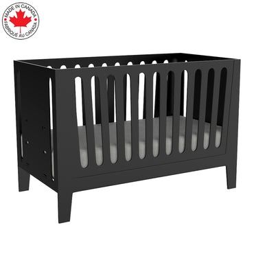 light gray crib