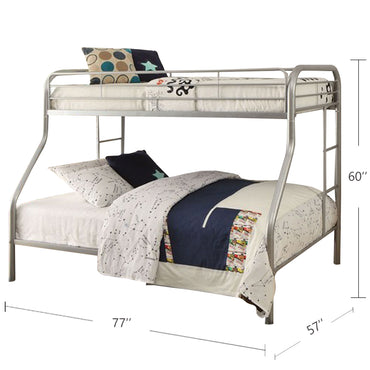 Single / Double Bunk Bed - Zenon - Metal - Gray