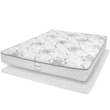 Ensemble Matelas Sommier Plat - Collection Hayley - Double