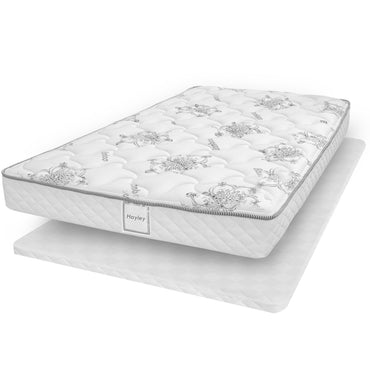 Ensemble Matelas Sommier Plat - Collection Hayley - Simple