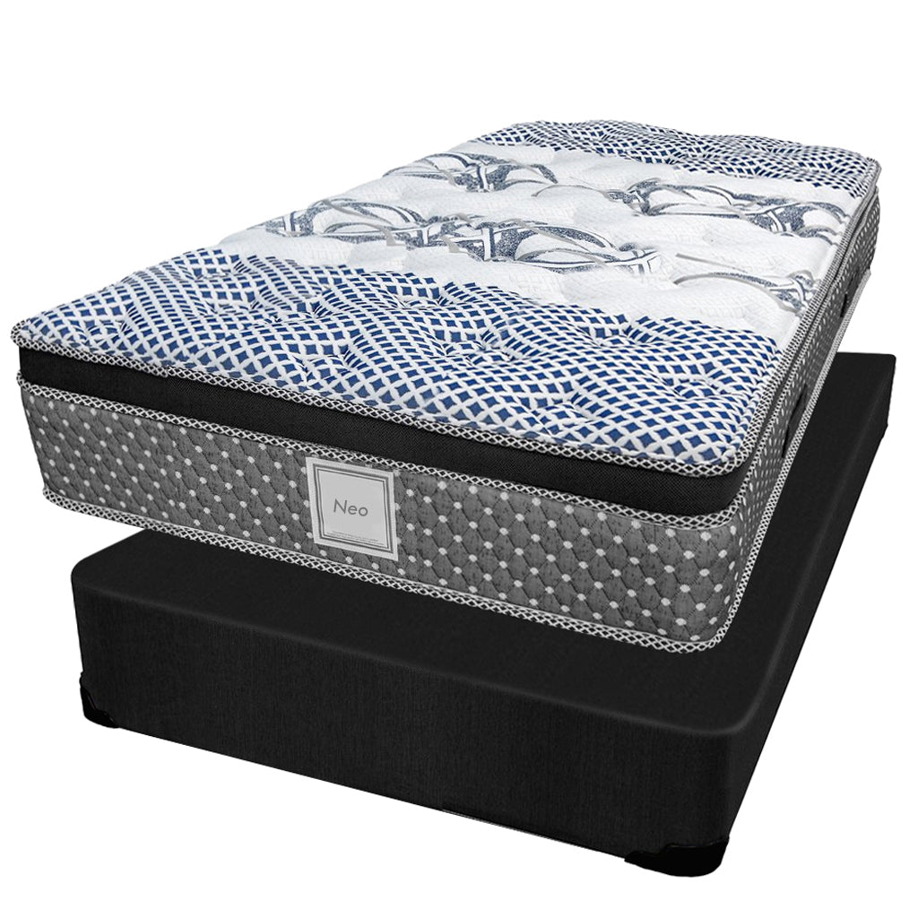 Ensemble Matelas Sommier - Collection Neo - Simple