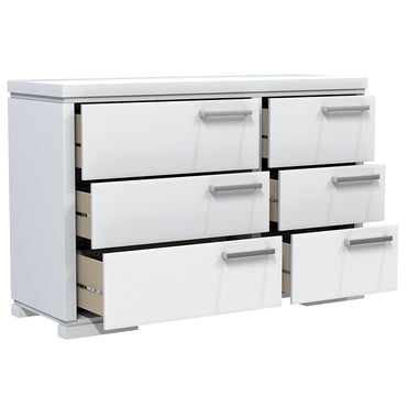 Double Desk - 6 Drawers - Joe - White