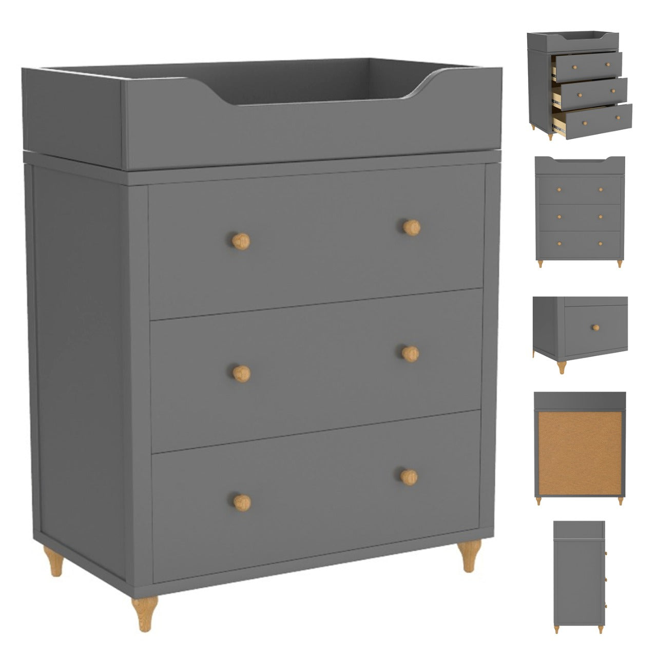 bebelelo changing table Dark gray