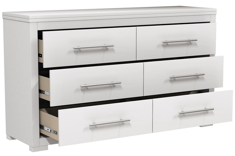 DOUBLE DESK WITH 6 DRAWERS BARTON- WHITE
