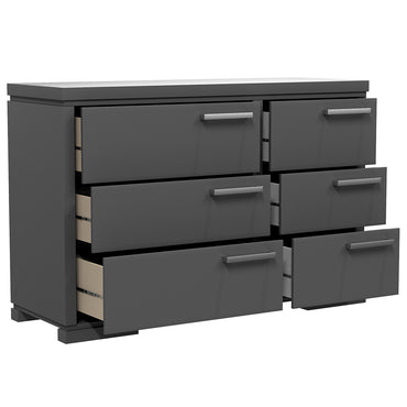 Double Desk - 6 Drawers - Joe - Dark Gray