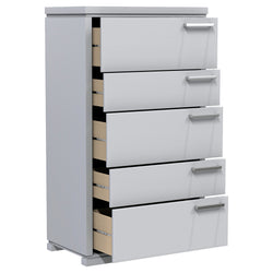 Desk - 5 Drawers - Joe - Pale Gray
