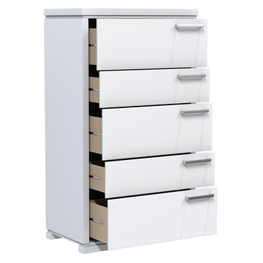 Desk - 5 Drawers - Joe - White