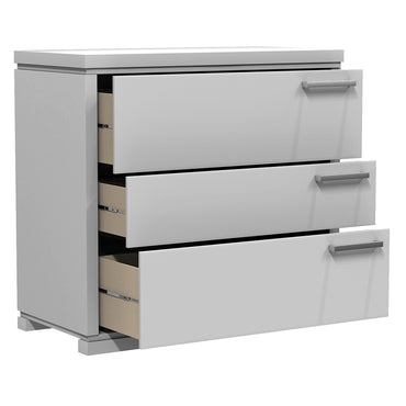 Desk - 3 Drawers - Joe - Pale Gray