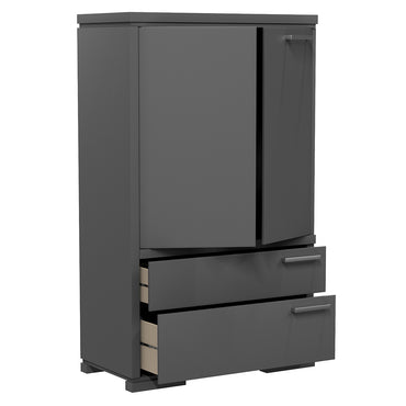 Wardrobe - 2 Drawers and 2 Doors - Joe - Dark Gray