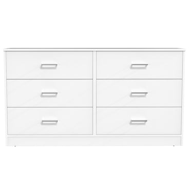 Double Desk - 6 Drawers - Bamboo - White