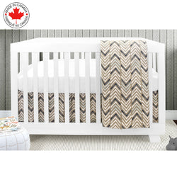 BEBELELO - 4 PIECE BEDDING FOR BEIGE BABY WITH BLUE AND WHITE ARROW # 633