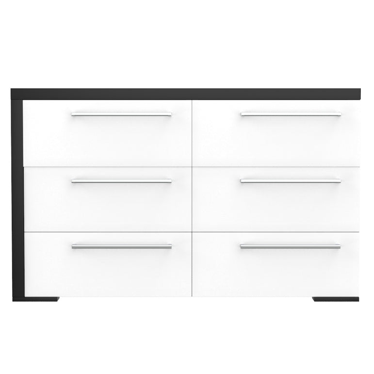 6-drawer double desk - Alpine - Java and white
