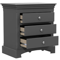 Bedside Table - 3 Drawers - Royal Collection - Adult - Dark Gray