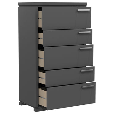 Desk - 5 Drawers - Joe - Dark Gray