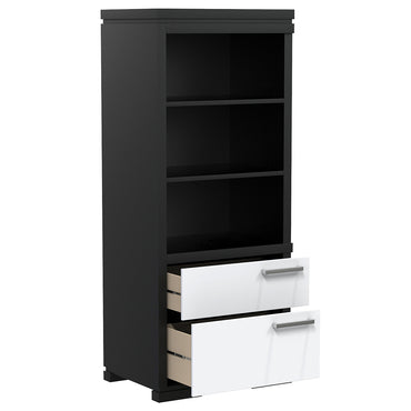 Library - 2 Drawers and 3 Floors - Joe - Black and White