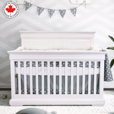 Bebelelo - 5-Piece Gray and White Baby Bedding Set with Sheep Design - # 501