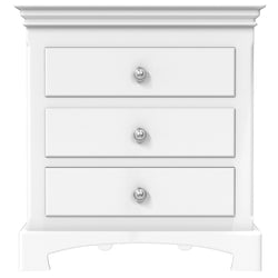 Bedside Table - 3 Drawers - Royal Collection - Adult - White