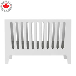 5-in-1 convertible crib - JADE - all in white