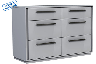 ANSON DOUBLE 6 DRAWER DESK - LIGHT GRAY