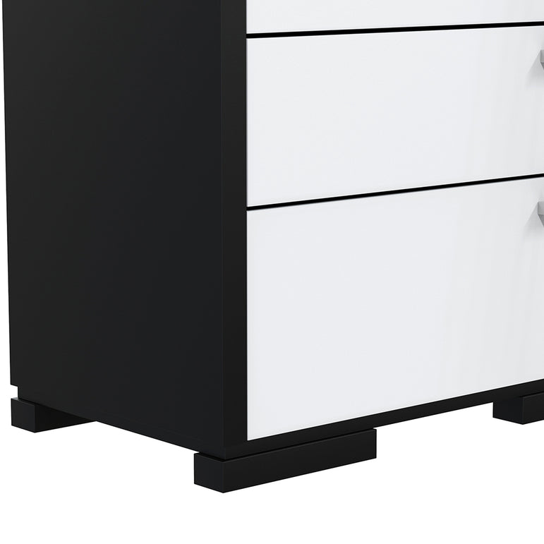 Desk - 5 Drawers - Joe - Black and White