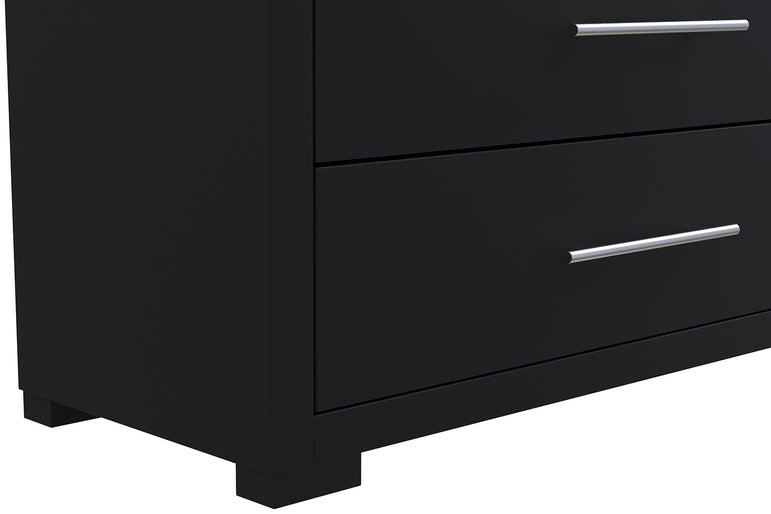BARTON 5 DRAWER DESK - JAVA