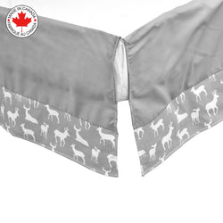 Bebelelo- Gray and white 7 piece baby bedding with deer pattern # 400