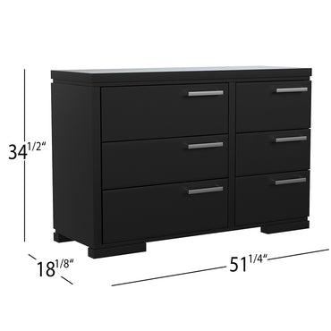 Double Desk - 6 Drawers - Joe - Black