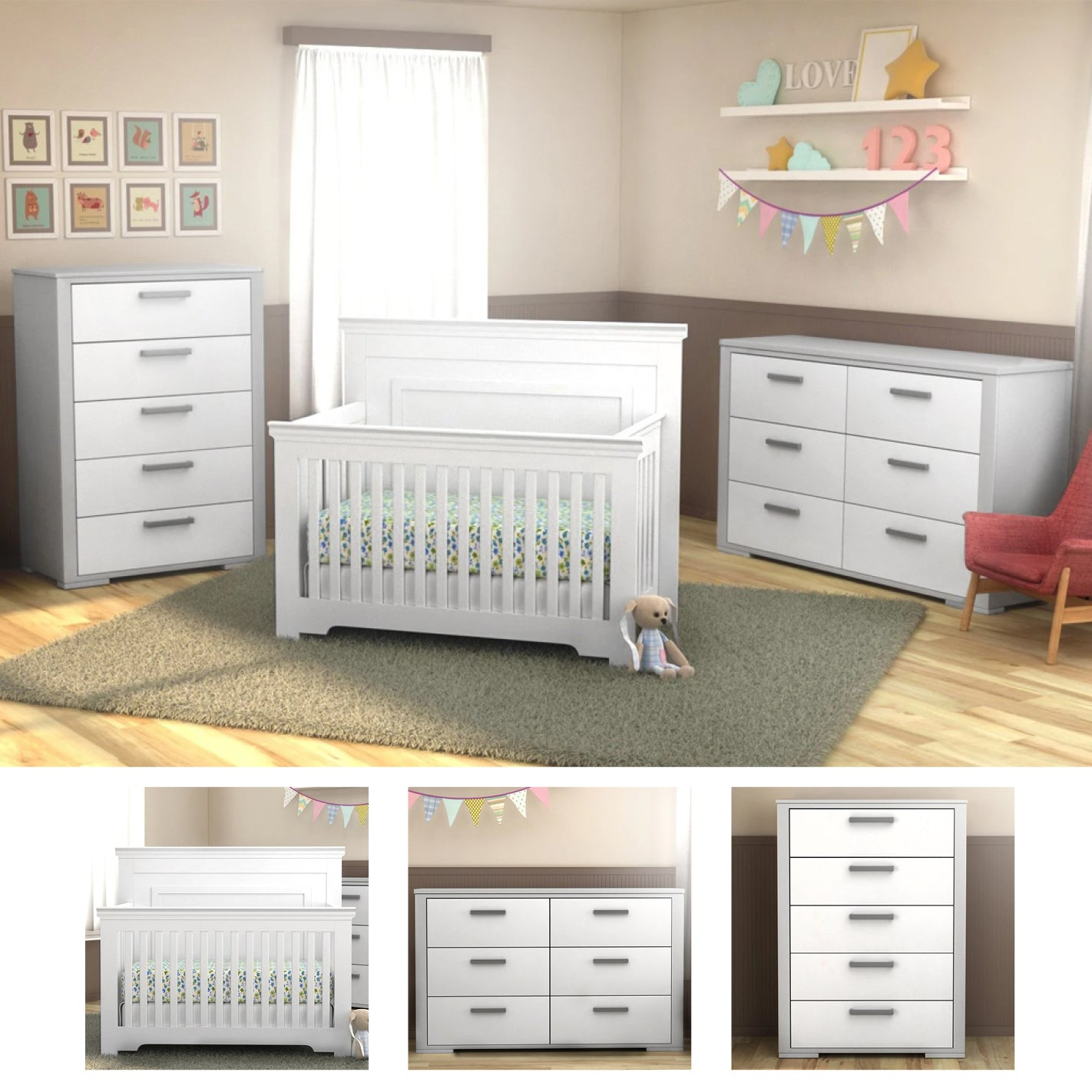 karlstad baby furniture trio