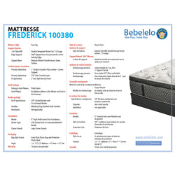 13 inch double mattress - Frederick Collection