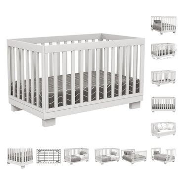 4 in 1 Convertible Crib - Joanna - White