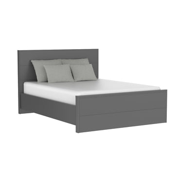 dark gray double bed