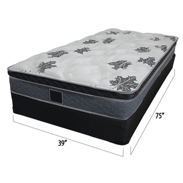 16 inch single box spring mattress set - Barton Collection