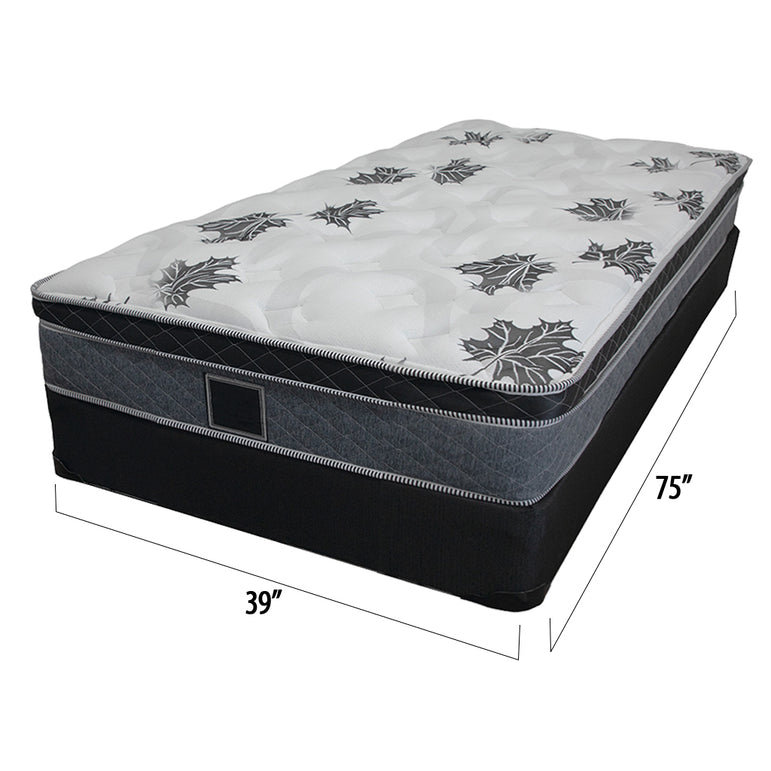 Ensemble matelas sommier simple 16 pouces - Collection Barton