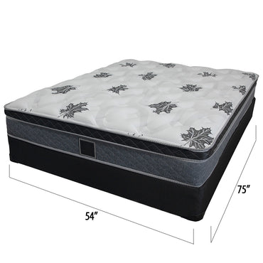 16 inch double box spring mattress set - Barton Collection