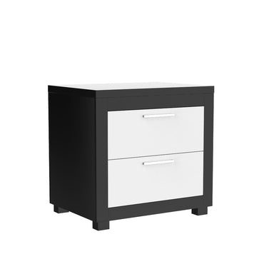 black and white nightstand