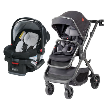 Travel System - Diono Quantum 2 + Graco Snugride 30LX Click Connect Car Seat