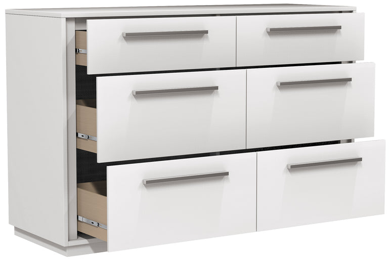 ANSON DOUBLE 6 DRAWER DESK - WHITE