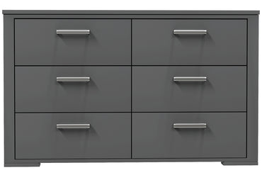 6-drawer double desk - Karlstad - Dark gray