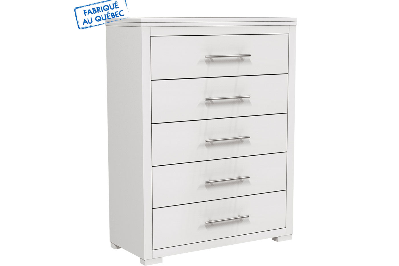 BARTON 5 DRAWER DESK - WHITE