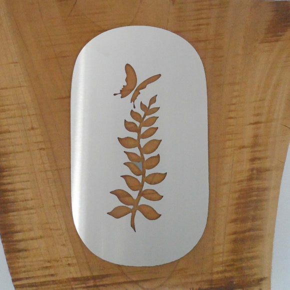 HOUSE NUMBER 0 - Fern Design with Butterfly