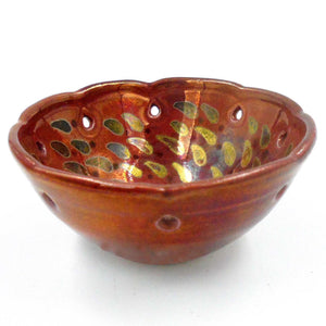 RED & GOLD SMALL BOWL