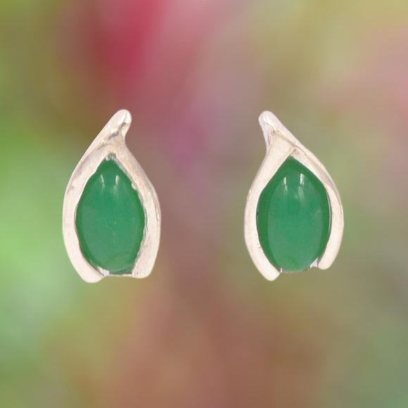 CHRYSOPRASE & ARGENTIUM Silver Earrings
